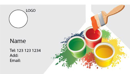 print print print - Painting Business Cards